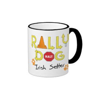 Irish Setter Rally Dog Mugs