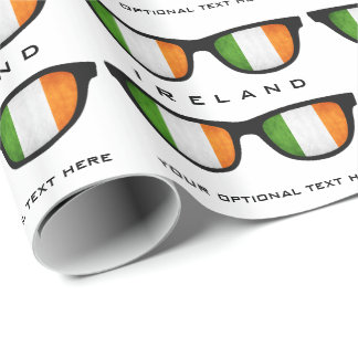 Irish Shades custom text & color gift wrap