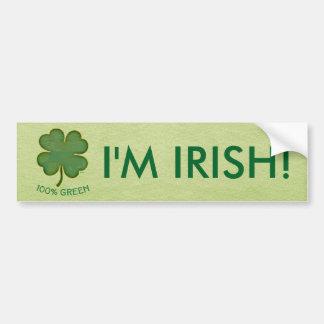 Irish Shamrock - 100% Green Bumper Sticker