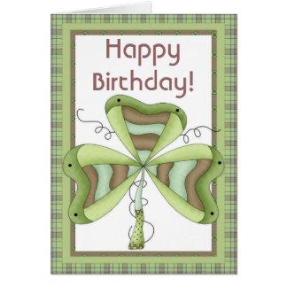 Irish Shamrock 1 Happy March Birthday Card
