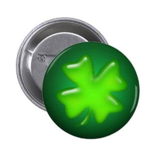 IRISH SHAMROCK by SHARON SHARPE 6 Cm Round Badge