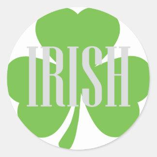 irish shamrock classic round sticker