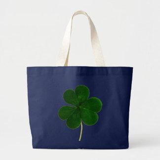 Irish Shamrock Clover St. Patrick Ireland Large Tote Bag