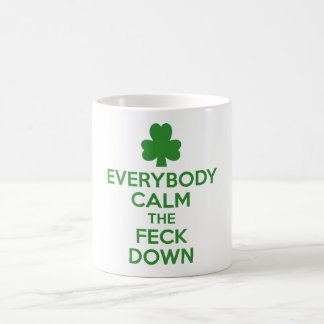 Irish shamrock coffee mug