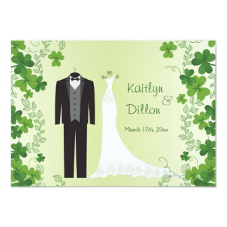 Irish shamrock Couple's Wedding Shower Card