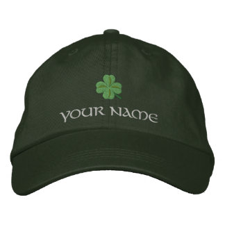 Irish shamrock cover St Patrick's Embroidered Hat