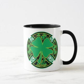 Irish Shamrock Cross Mug