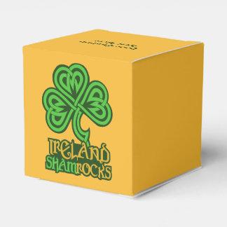 Irish Shamrock custom favor boxes