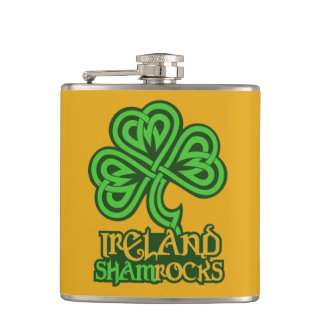 Irish Shamrock custom flask