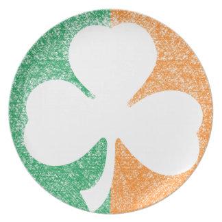 Irish Shamrock custom plate
