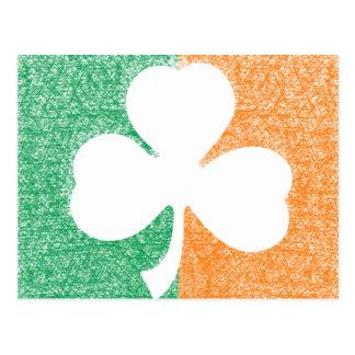 Irish Shamrock custom postcard