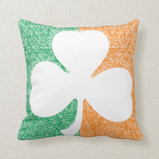 Irish Shamrock custom throw pillow