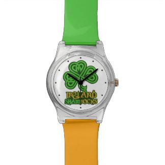Irish Shamrock custom watches