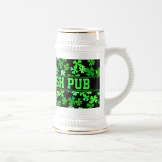Irish Shamrock Drinking Stein