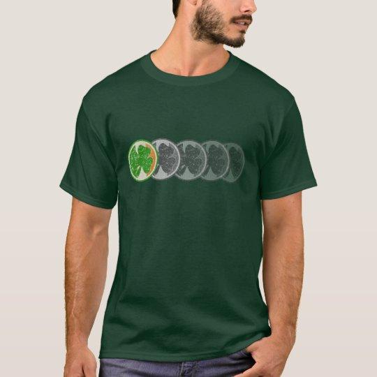 Irish shamrock fade t shirt