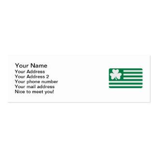 Irish shamrock flag business card templates