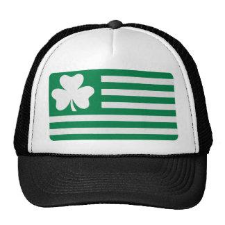 Irish shamrock flag mesh hats