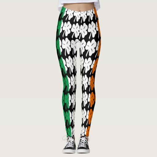 Irish Shamrock Flag Leggings