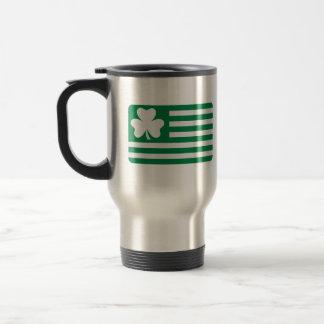 Irish shamrock flag coffee mugs