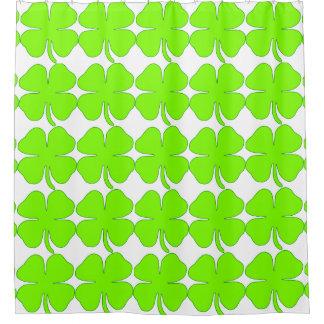 Irish Shamrock Four Leaves Shower Curtain, None Shower Curtain