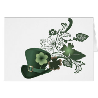 Irish Shamrock Hat Card