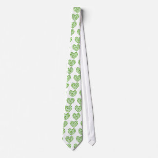 Irish Shamrock Heart Tie