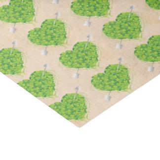 Irish Shamrock Heart Wedding Tissue Paper