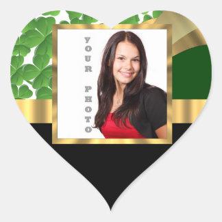Irish shamrock instagram  photo template heart sticker