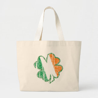 Irish Shamrock Large Tote Bag