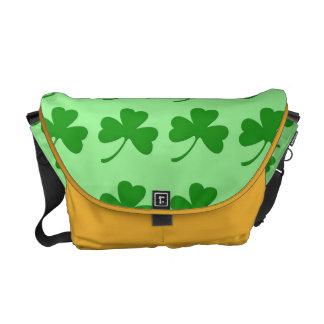 Irish Shamrock Messenger Bag