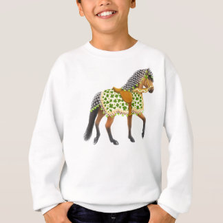 Irish Shamrock Parade Horse Kids Sweatshirt