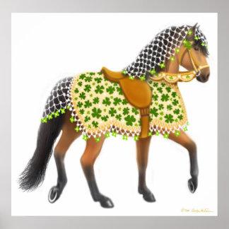 Irish Shamrock Parade Horse Print