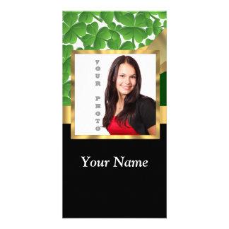 Irish shamrock personalized instagram custom photo card