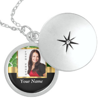 Irish shamrock personalized instagram sterling silver necklace