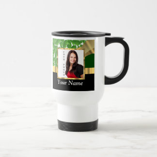 Irish shamrock personalized instagram travel mug