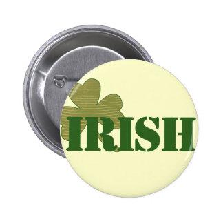 Irish Shamrock Pinback Button