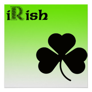 iRish Shamrock Poster