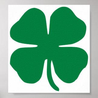 Irish Shamrock Poster