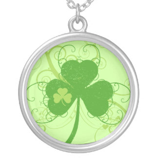 Irish Shamrock Silver Plated Necklace
