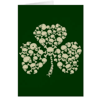 Irish Shamrock Skulls Card
