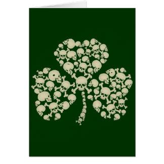Irish Shamrock Skulls Cards