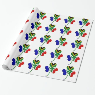 Irish Shamrock /South African Flag Wrapping Paper