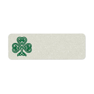 IRISH SHAMROCK SYMBOL ADDRESS LABELS