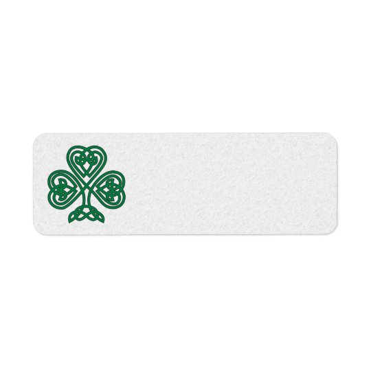 IRISH SHAMROCK SYMBOL ADDRESS LABELS