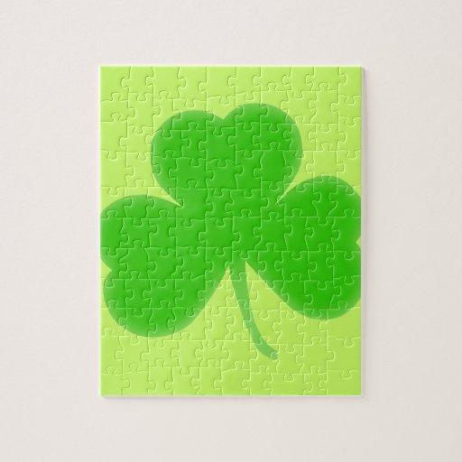 Irish Shamrock Symbol Jigsaw Puzzles