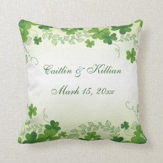 Irish shamrock Wedding Cushion