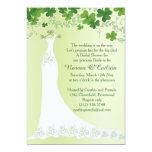 Irish shamrock, wedding gown Bridal Shower 13 Cm X 18 Cm Invitation Card
