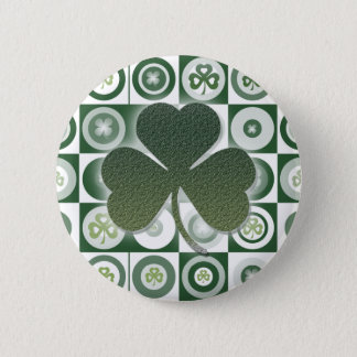 Irish shamrocks buttons & badges