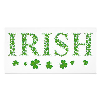 IRISH SHAMROCKS PERSONALISED PHOTO CARD