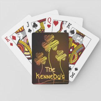 Irish Shamrocks Personalized Playing Cards